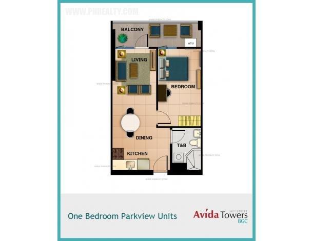 4 194 400 1 Bhk At Avida Towers 34th Street Bgc Condo For Sale In Taguig Metro Manila
