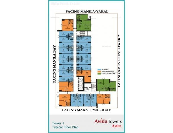 2 300 000 Studio Units At Avida Towers Asten Condo For Sale In Makati Metro Manila